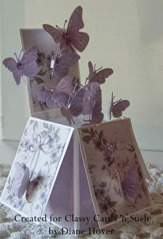 68 ideas birthday box card ideas pop up Birthday Card Pop Up, Butterfly Birthday Cards, Birthday Box, Handmade Birthday Cards, Butterfly Cards Handmade, Happy Birthday, Fun Fold Cards, 3d Cards, Folded Cards