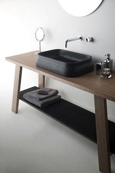 Love the dark sink!