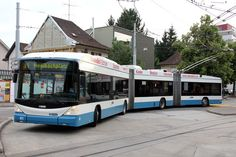 HESS bi-articulated trolleybus Nostalgia, Bus Terminal, Bus Driver, Busses, Bus Stop, France, Transportation, Coaching, City