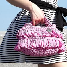 "Crochet bag model ""brigitte""by Atelier Dream Shabby Chic"