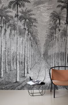 Panoramic landscape wallpaper PALMERAIE Wallcovering Collection By Inkiostro Bianco design Giuseppe Iasparra Artistic Wallpaper, Wall Wallpaper, Designer Wallpaper, Watercolor Landscape Paintings, Landscape Wallpaper, Landscaping Software, Tropical Style, Land Scape, Decorating Your Home