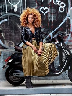How to Wear Gold This Fall, as Demonstrated by Lion Babe's Jillian Hervey: Gold lam is as '70s as the Hustle and roller skates, but singer Jillian Hervey (Vanessa Williams's daughter) gives it a new spin.   allure.com