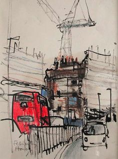Browse the Felicity House Drawings & Sketchbook gallery. Felicity House is an award winning Dorset-based artist, working primarily in Pastels. Voyage Sketchbook, Travel Sketchbook, Watercolor Sketchbook, Artist Sketchbook, Watercolour, Oil Pastel Drawings, Art Drawings, Drawing Faces, Gravure Illustration