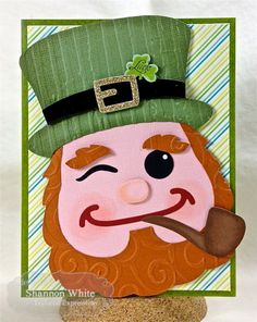 Enchanted Ladybug Creations: Taylored Expressions February Sneak Peeks - Moka Shannon & Sack It Leprechaun! : Enchanted Ladybug Creations: Taylored Expressions February Sneak Peeks - Moka Shannon & Sack It Leprechaun! St Patricks Day Cards, Saint Patricks, 1st Grade Crafts, St Patrick's Day Crafts, St Paddys Day, St Pattys, Punch Art, Leprechaun, Homemade Cards