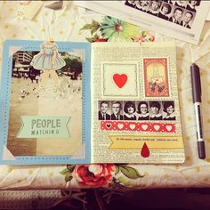 Nightly collage #sketchbookproject #collage by mushab00m, via Flickr