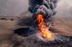 As the 1991 Persian Gulf War drew to a close, Hussein sent men to blow up Kuwaiti oil wells. Approximately 600 were set ablaze, and the fires — literally towering infernos — burned for seven months. The Gulf was awash in poisonous smoke, soot and ash.