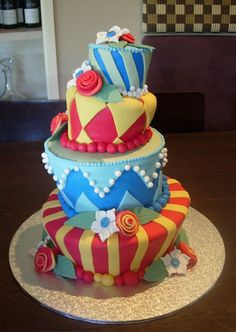 These cakes take a lot of time, skill and talent to make.  Topsy Turvy Wedding Cake by cupcaketastic, via Flickr