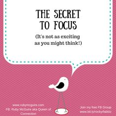 The Secret To Focus! First Day Job, Time Management Tools, Coaching Skills, Online Group, Business Planner, Work Tools, Career Goals, Life Purpose