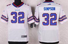 Buffalo Bills #32 O. J. Simpson White Retired Player NFL Nike Elite Men's Jersey