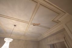 Classic Stretch Waffle Ceiling in Office in a House, Mississauga