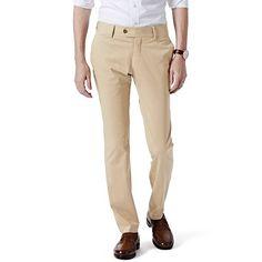 Garment Dyed Chino-Straight Fit - Khaki - $129