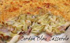 Cordon Bleu Casserole! (No cream of anything soup in this!)