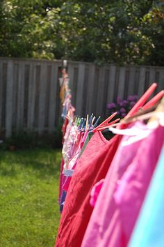 I remember my mom hanging clothes on the clothes line...