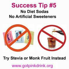 Plexus Slim Success Tip #5 No Artificial Sweeteners or Diet Soda www.gotpinkdrink.org