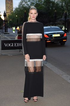 From Kate Moss to Alexa Chung, This Is What Fashion Girls Wear to a Vogue Dinner via @WhoWhatWear