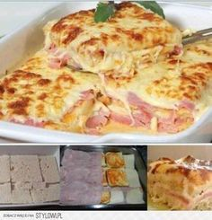 Simple, quick and tasty: Baked toasted bread with ham and cheese – delicious! Simple, quick and tasty: Baked toasted bread with ham and cheese – delicious! Sandwich Recipes, Pizza Recipes, Cooking Recipes, Bread Toast, Yummy Food, Tasty, Portuguese Recipes, Ham And Cheese, Baked Cheese