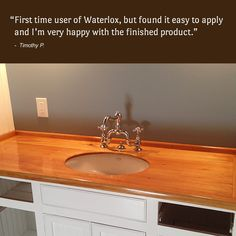 A Bathroom Vanity Gets A Makeover With A Waterlox Counter. Http://www ·  Wood CountertopsBathroom Vanities