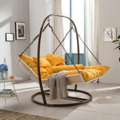 This indoor hammock swing chair style is for 2. Couple can spend moments together like watching TV, reading, eating or napping. Rattan is strong and basket base is durable to support the weight of 2 average person. Portability lets you to use the large double hammock chair indoor and outdoor. The price is around US $994.00. Facebook Twitter Google+ Pinterest StumbleUpon Email