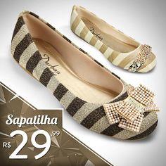 MEGA PROMOÇÃO! Linda Sapatilha Feminina por apenas R$ 29,99!! Compre Online