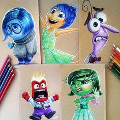 Credit by Deviantart Disney Character Drawings, Disney Drawings Sketches, Cute Disney Drawings, Cool Art Drawings, Realistic Drawings, Colorful Drawings, Easy Drawings, Disney Art, Disney Pixar