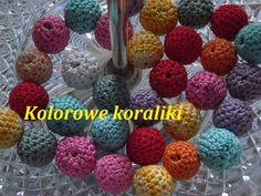 Kolorowe koraliki na szydełku**Szydełkowanie*szydełkiem*