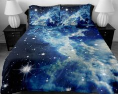 Cloud bedding sets queen duvet covers king bedding set two sides printing white galaxy duvet covers bed spread bedding