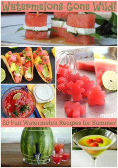 Watermelons Gone Wild! {20 Fun Watermelon Recipes for Summer} - wearychef.com