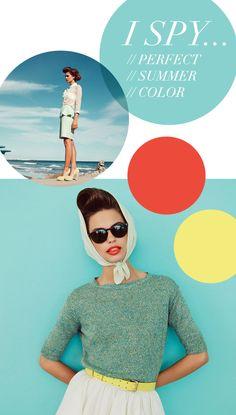 Color coordination for summer color and summer decorations Email Design Inspiration, Web Design Inspiration, Color Inspiration, Retro Color Palette, Color Coordination, Baby Room Colors, Print Design, Graphic Design, Retro Summer