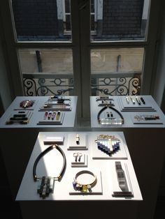 All,white flat jewellery display #market #stall #presentation