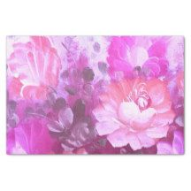 Pink and Purple Floral Tissue Paper