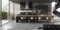 De-sign cuisine moderne Fenix grise anthracite bois