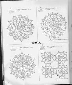 crochelinhasagulhas: Много схем круглых мотивов