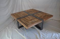 READY TO SHIP Industrial Square Salvaged by MetalTreeFurniture