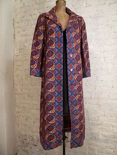 70s Calvin Klein Coat - Rare and Stylish - Wool Tapestry. $295.00, via Etsy.