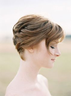 Pinning to give a short do a long , formal look.