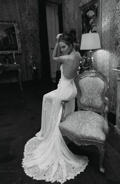 I have an obsession with Low back wedding dresses