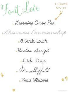 Lovely cursive style handwriting fonts | Mospens Studio