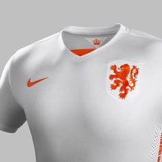 d4e88ab95b7 White Netherlands Jersey 2015-16- New Holland Away Kit 15-16 Nike New