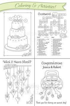 weddingcoloringbookkidsweddingfavorsby - Kids Activities Book