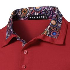 688637f596c9 Mens Casual Golf Shirt Floral Printing Short Sleeve Slim Fit Spring Summer  Tops Sales on NewChic Mobile