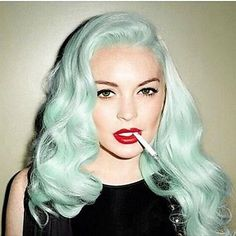Step-by-Step Guide to - Pastel hair soft wave fashion mint green heat resistant synthetic lace front wigs for women sexy lindsay lohan s green wig new hot hairstyle - DİY, Nagel Design Mint Green Hair, Green Wig, Lilac Hair, Aqua Hair, Turquoise Hair, Blue Green, Lavender Hair, Purple Lilac, Ombre Hair