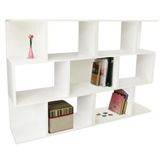 Have to have it. Way Basics Double Madison Bookcase and Room Divider - White - $178.99 @hayneedle