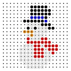 Beaded snowman – Famous Last Words Quilting Beads Patterns Pixel Beads, Fuse Beads, Pearler Beads, Fuse Bead Patterns, Perler Patterns, Beading Patterns, Quilt Patterns, Christmas Perler Beads, Modele Pixel Art