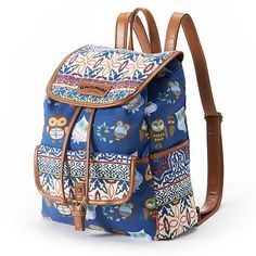 unionbay-floral-stripe-owl-backpack