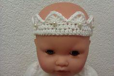 Baby Krone Fotografie gehäkelt