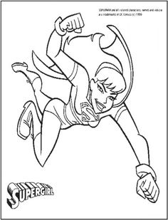 This Supergirl Coloring Picture Is From The Free Printable DCComics Pictures Collection For Kids To Print Out And Have Fun In