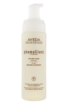 aveda phomollient styling foam - smells like honey, offers very light hold and some hydration