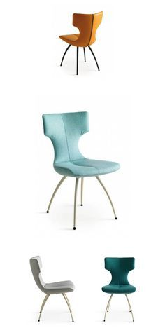 Callas Dining Chair by Leolux. Callas lends itself perfectly to expressive choices. The front, back and legs can be defined separately per chair, so you can make a mix that fits perfectly with your taste.