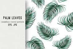 Tropical palm leaves pattern  @creativework247