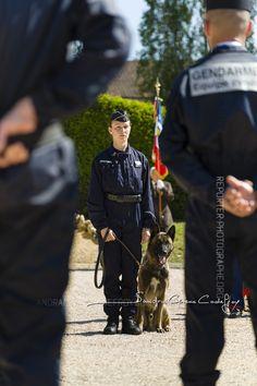 Stagiaire maître de chien [Ref:1215-05-0286] #gendarmerienationale #femme #chien #equipecynophile